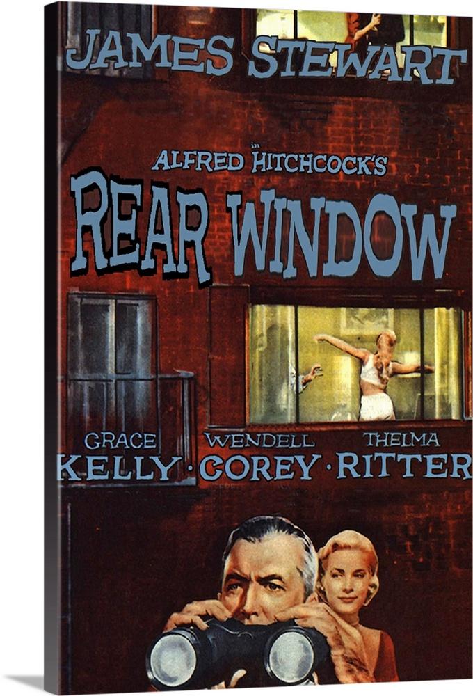 1954 Poster Art Print Home Decor Rear Window