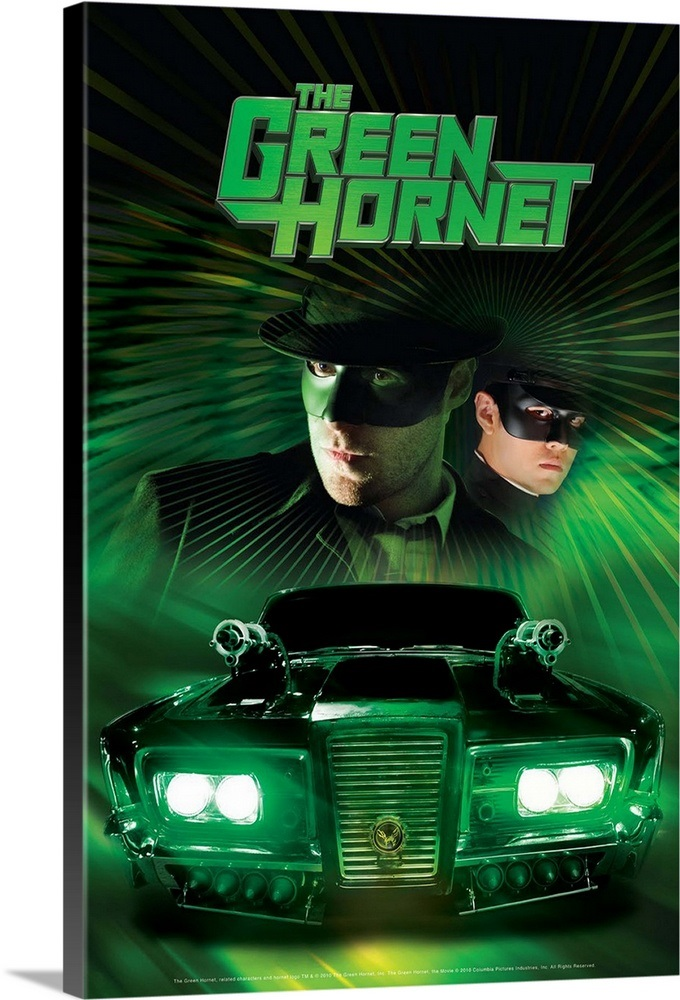 The Green Hornet - Movie Poster Wall Art, Canvas Prints ...