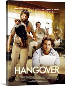 The Hangover Movie Poster Norwegian Wall Art Canvas