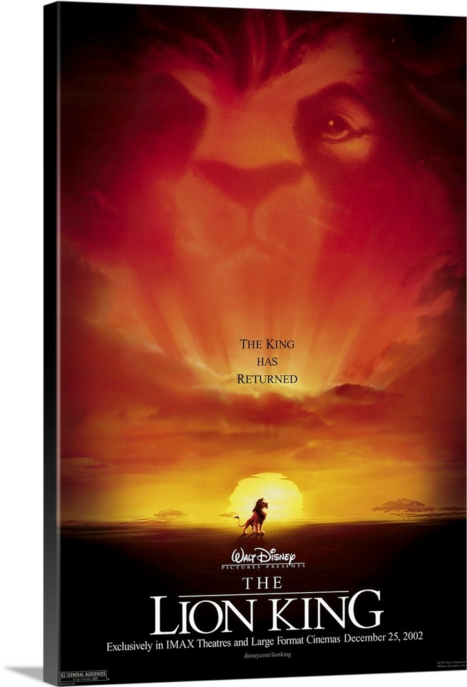 the lion king  2002  wall art  canvas prints  framed