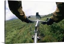 A biker's view, Lake Clark National Park and Preserve, Alaska Range, Alaska