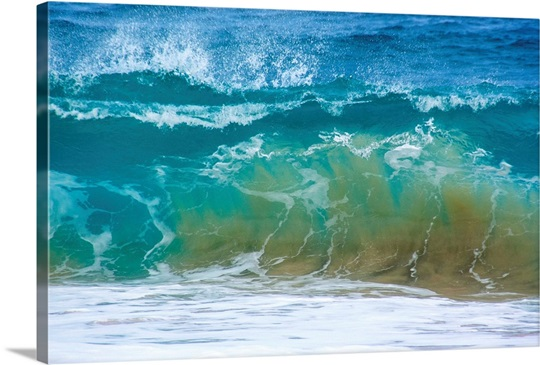 A Huge Wave Gathers At Sandy Beach Honolulu Hawaii
