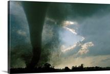 An F3 category tornado swirls across a South Dakota prairie, South Dakota