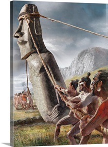 Ancient Easter Islanders Used Ropes To Walk The Moai