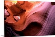 Antelope Canyon in warm light, Navajo Reservation, Arizona