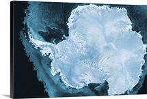 Artwork of the continent of Antarctica