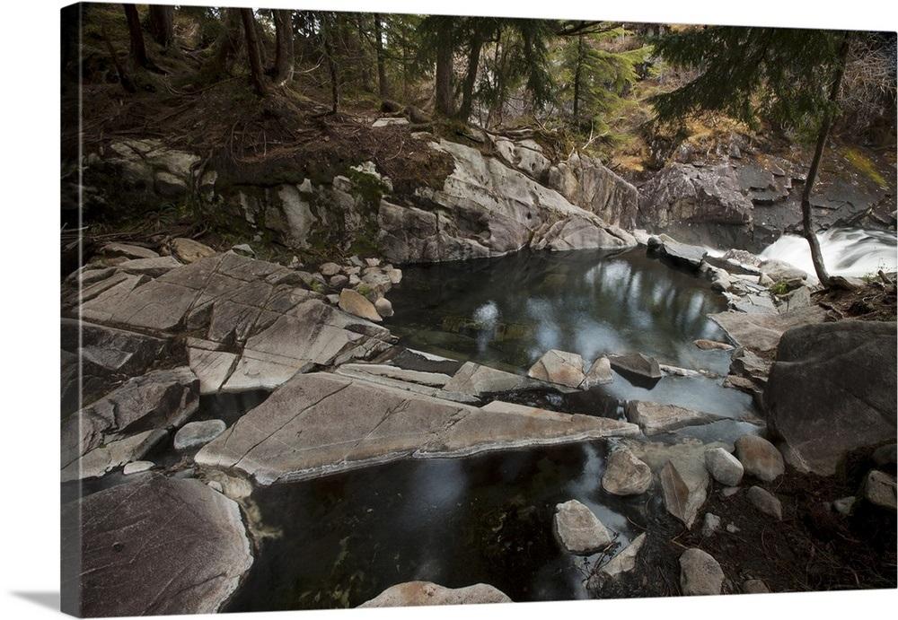 Baranof hot springs and river
