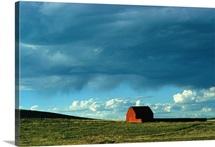 Barn on prairie, Santa Fe Trail area