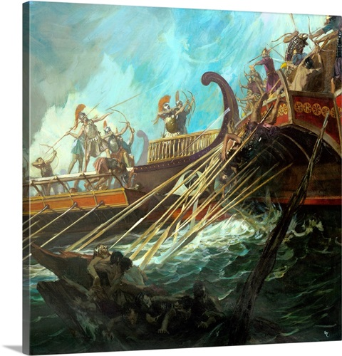 Battle of Salamis, 480 BCE Wall Art, Canvas Prints, Framed ...
