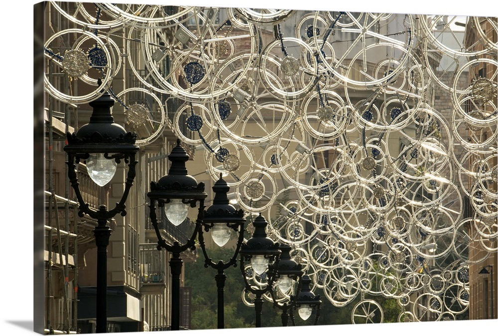 Bicycle Parts Turned Into Hanging Art Wall Art Canvas Prints