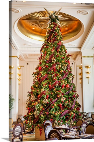 Christmas tree in lobby of a hotel Wall Art, Canvas Prints, Framed ...