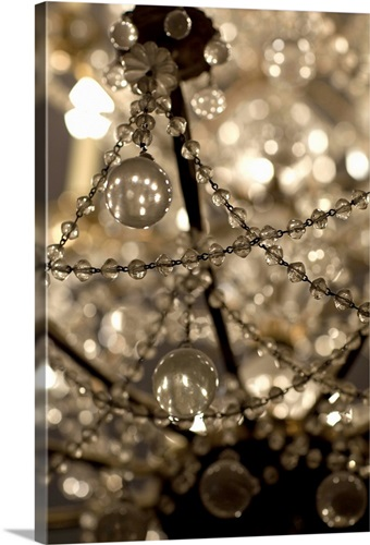 Close up of an ornate chandelier at the musee carnavalet wall art close up of an ornate chandelier at the musee carnavalet aloadofball Image collections