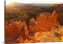 First light on Thor's Hammer, Bryce Canyon National Park