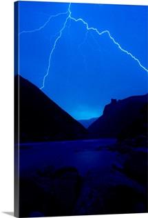 Lightning strike, Grand Canyon