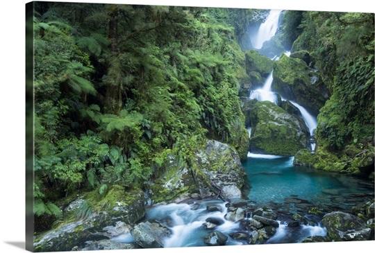Mackay Falls On Milford Track In Fiordland National Park