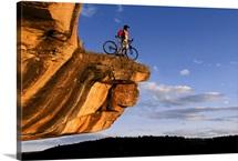 Mountain biker takes in view of Colorado, Dolores, Colorado