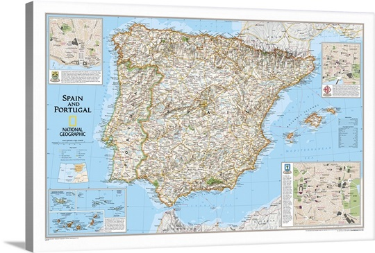 Big Map Of Spain.Ng Sales Map Of Spain And Portugal