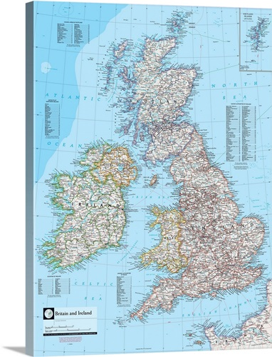 Ngs atlas of the world 8th ed political map of britain and ireland ngs atlas of the world 8th ed political map of britain and ireland canvas gumiabroncs Gallery