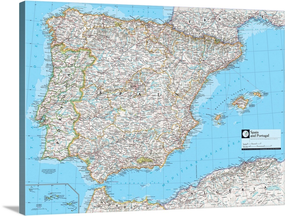 Map Of Spain Political.Ngs Atlas Of The World 8th Ed Political Map Of Spain And Portugal