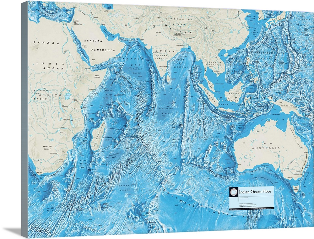 NGS Atlas of the World 8th Edition physical map of the Indian Ocean