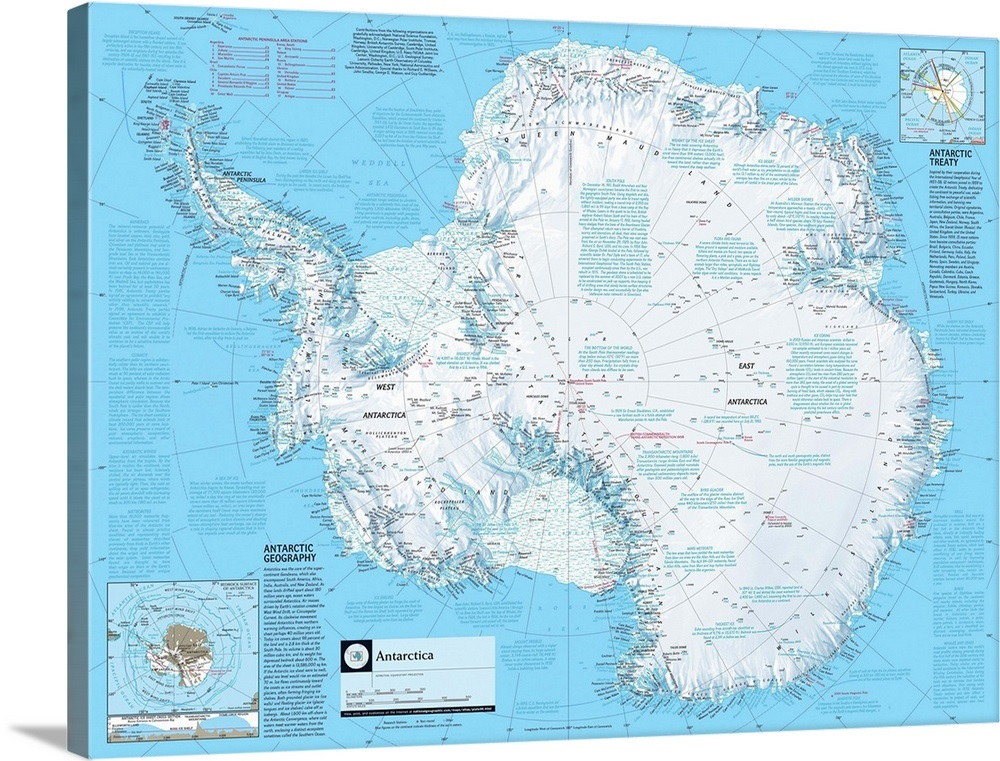 Ngs Atlas Of The World 8th Edition Political Map Of Antarctica Wall