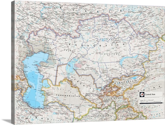NGS Atlas Of The World Th Edition Political Map Of Central Asia - Central asia political map