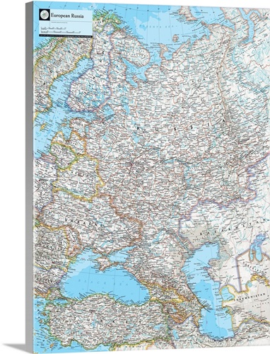 Ngs Atlas Of The World 8th Edition Political Map Of European Russia