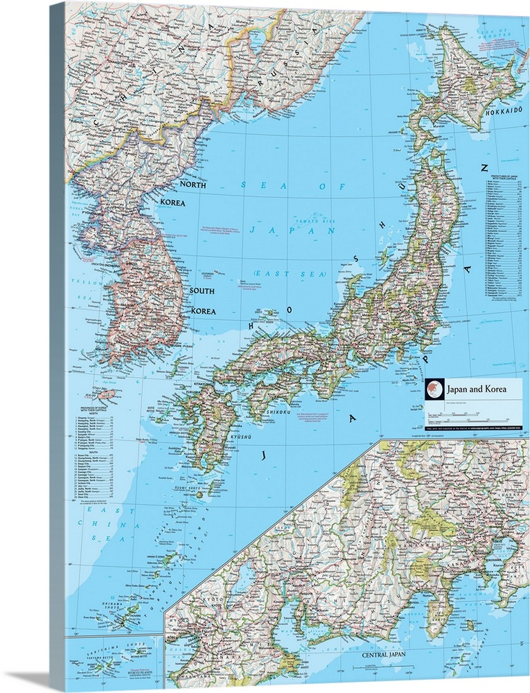 NGS Atlas Of The World 8th Edition Political Map Of Japan