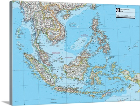 ngs atlas of the world 8th edition political map of southeastern asia