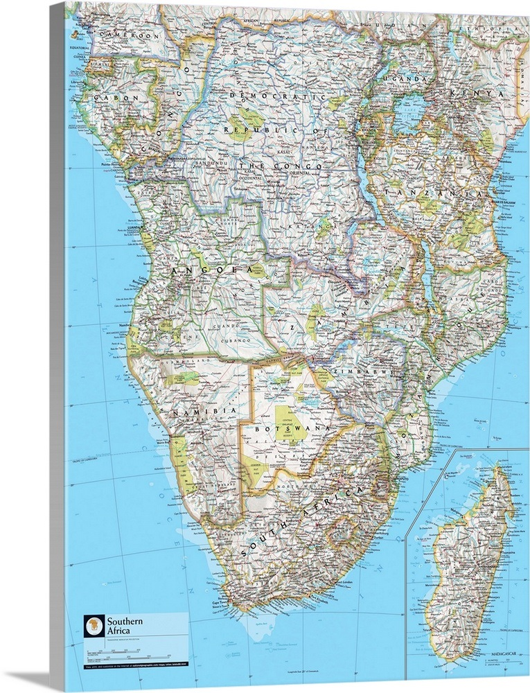 Ngs Atlas Of The World 8th Edition Political Map Of Southern Africa
