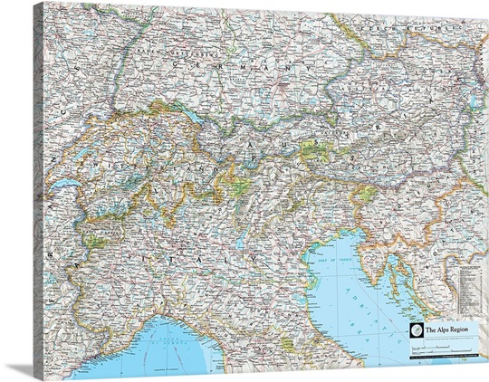 Ngs atlas of the world 8th edition political map of the alps ngs atlas of the world 8th edition political map of the alps region sciox Gallery