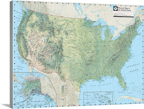 NGS Atlas Of The World Eighth Ed Physical Map Of The United - Physical maps of united states