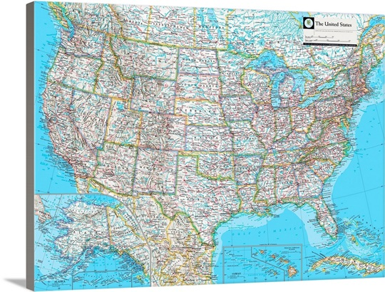 NGS Atlas of the World Eighth Ed. political map of the United States ...