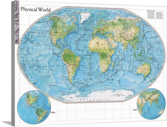 NGS Atlas Of The World Eighth Edition Physical Map Of The World - Physical map of the world