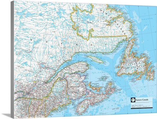 ngs atlas of the world eighth edition political map of eastern canada