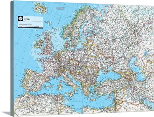 NGS Atlas Of The World Eighth Edition Political Map Of Europe Wall - National geographic political map