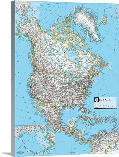 Ngs atlas of the world eighth edition political map of north america ngs atlas of the world eighth edition political map of north america gumiabroncs Image collections