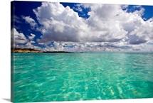 Pristine turquoise water off the coast of Aruba