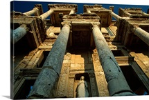 Ruins of the Library of Celsus in Ephesus, Turkey
