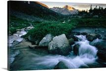 Rushing stream in Yosemite National Park, California