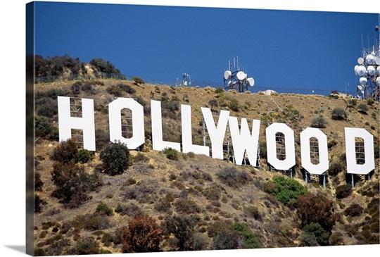 The landmark Hollywood sign, California Wall Art, Canvas Prints ...