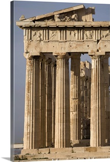 The Parthenon on the Acropolis in central Athens, Greece