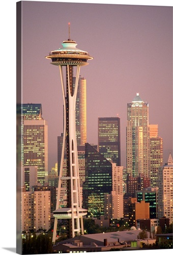 the space needle dominates the seattle skyline wall art canvas