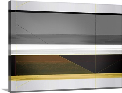Abstract Grey And Yellow Stripes