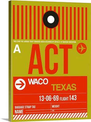 ACT Waco Luggage Tag I