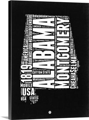 Alabama Black and White Map