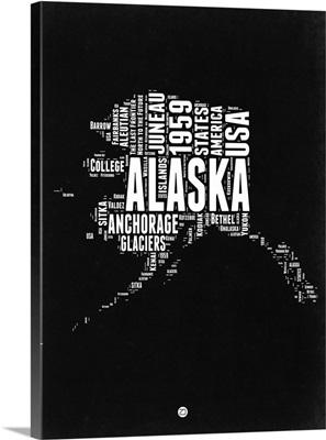 Alaska Black and White Map