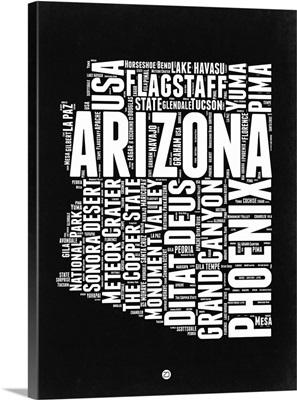 Arizona Black and White Map