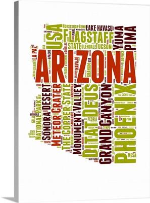 Arizona Word Cloud Map