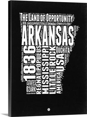 Arkansas Black and White Map